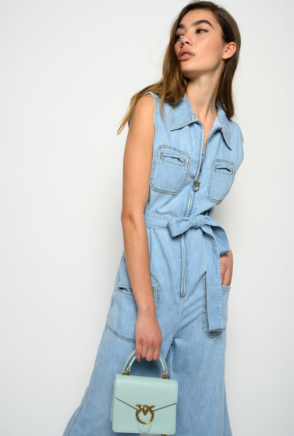 Loose denim jumpsuit - Pinko