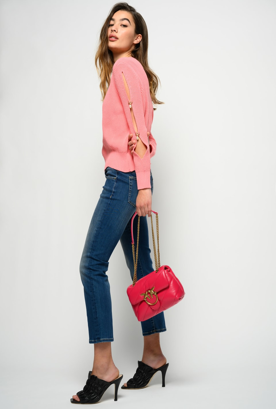 Low-waist slim straight jeans - Pinko