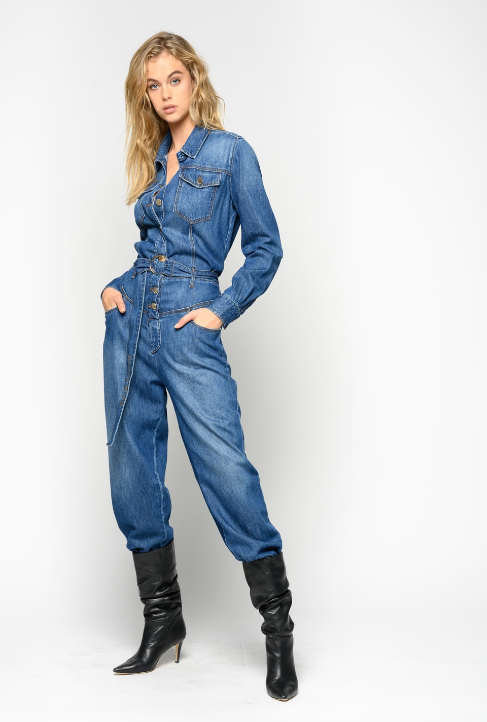 Total denim jumpsuit