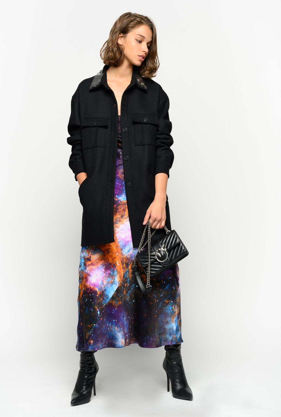 Galaxy-print dress