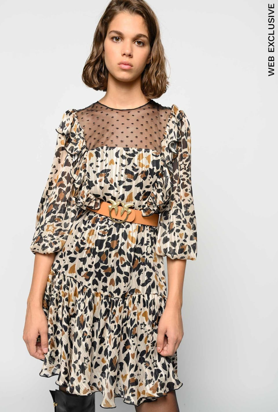 Pop animal pattern jacquard dress