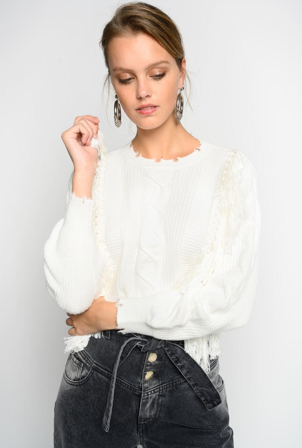 Pullover con frange Online Exclusive