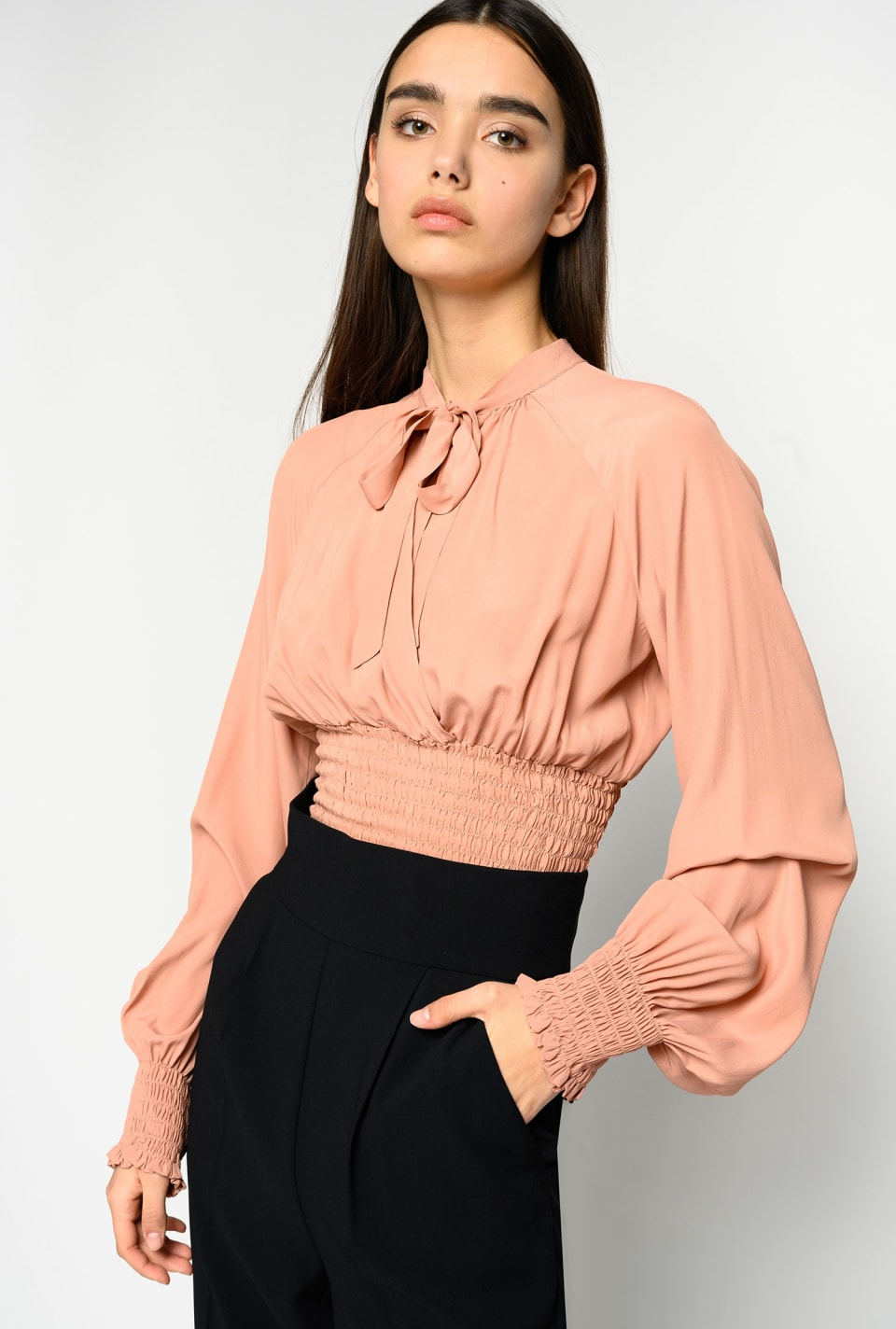 Blouse with smock details