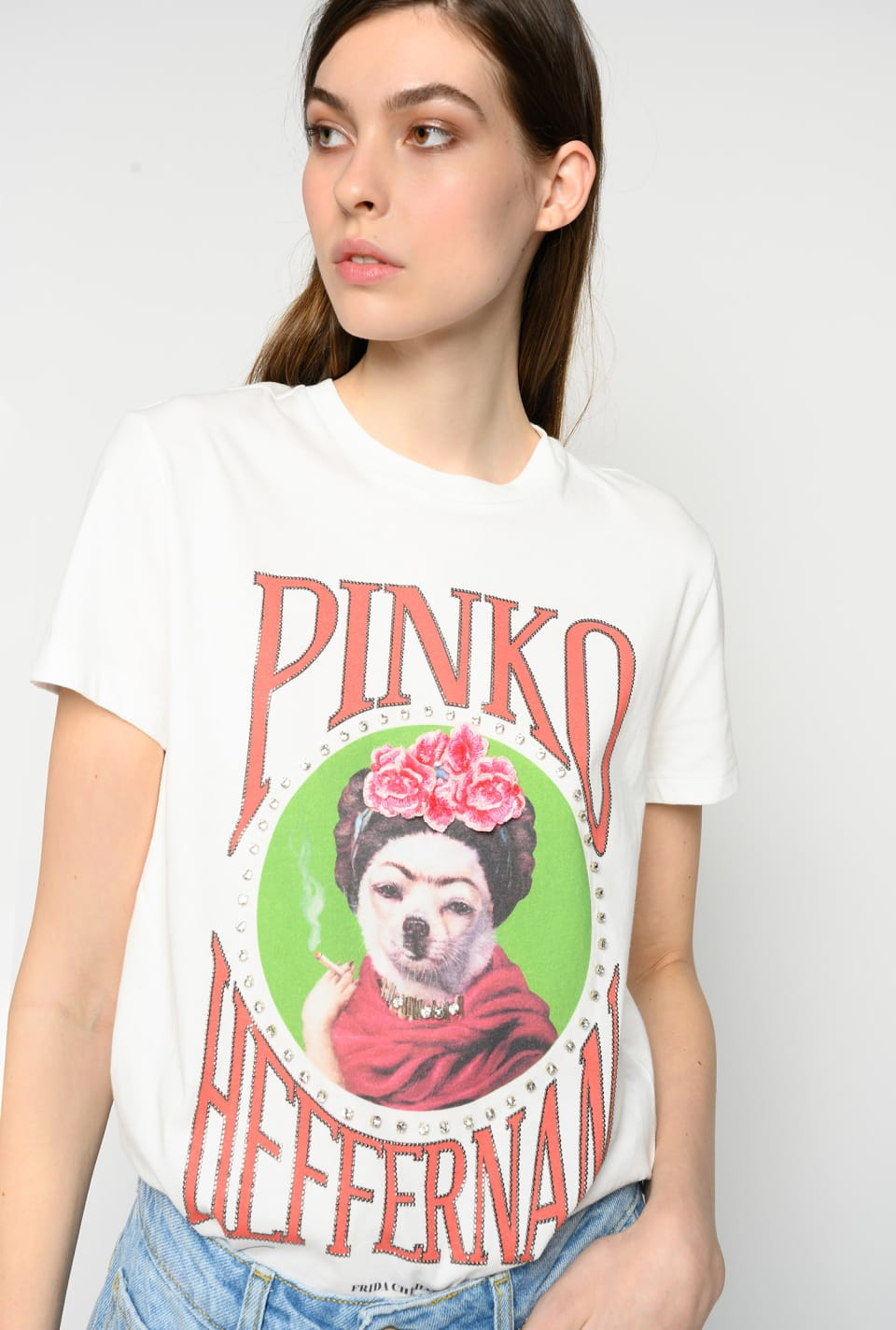 """Frida Chi-Halo"" t-shirt - Pinko"
