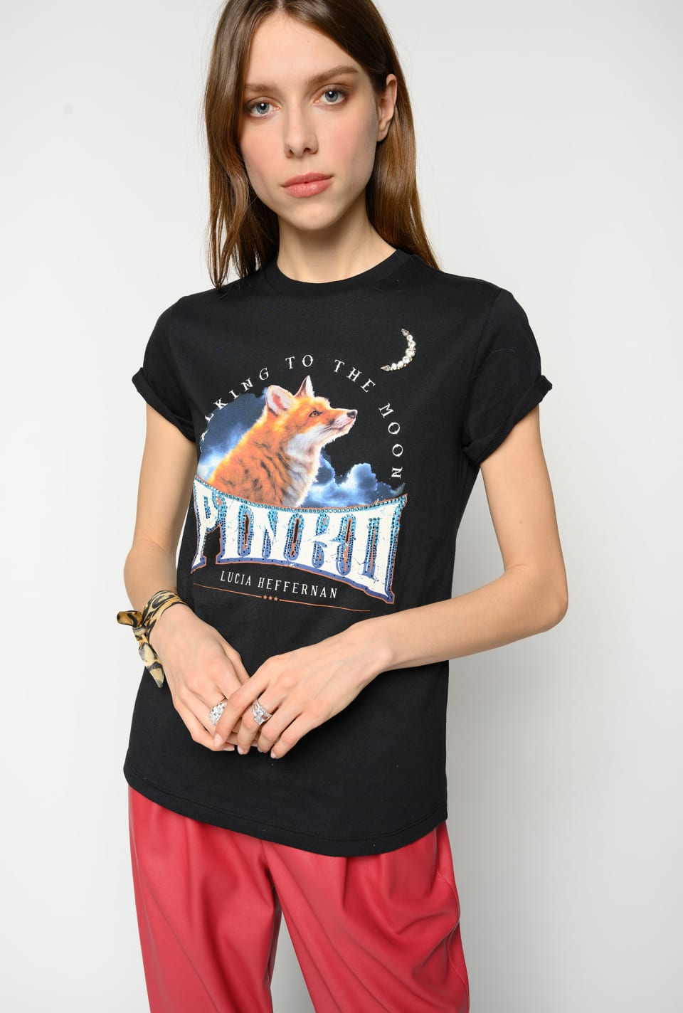 """Talking To The Moon"" t-shirt - Pinko"