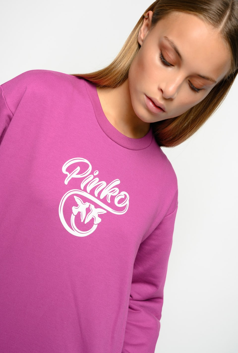 Love Birds logo sweatshirt - Pinko