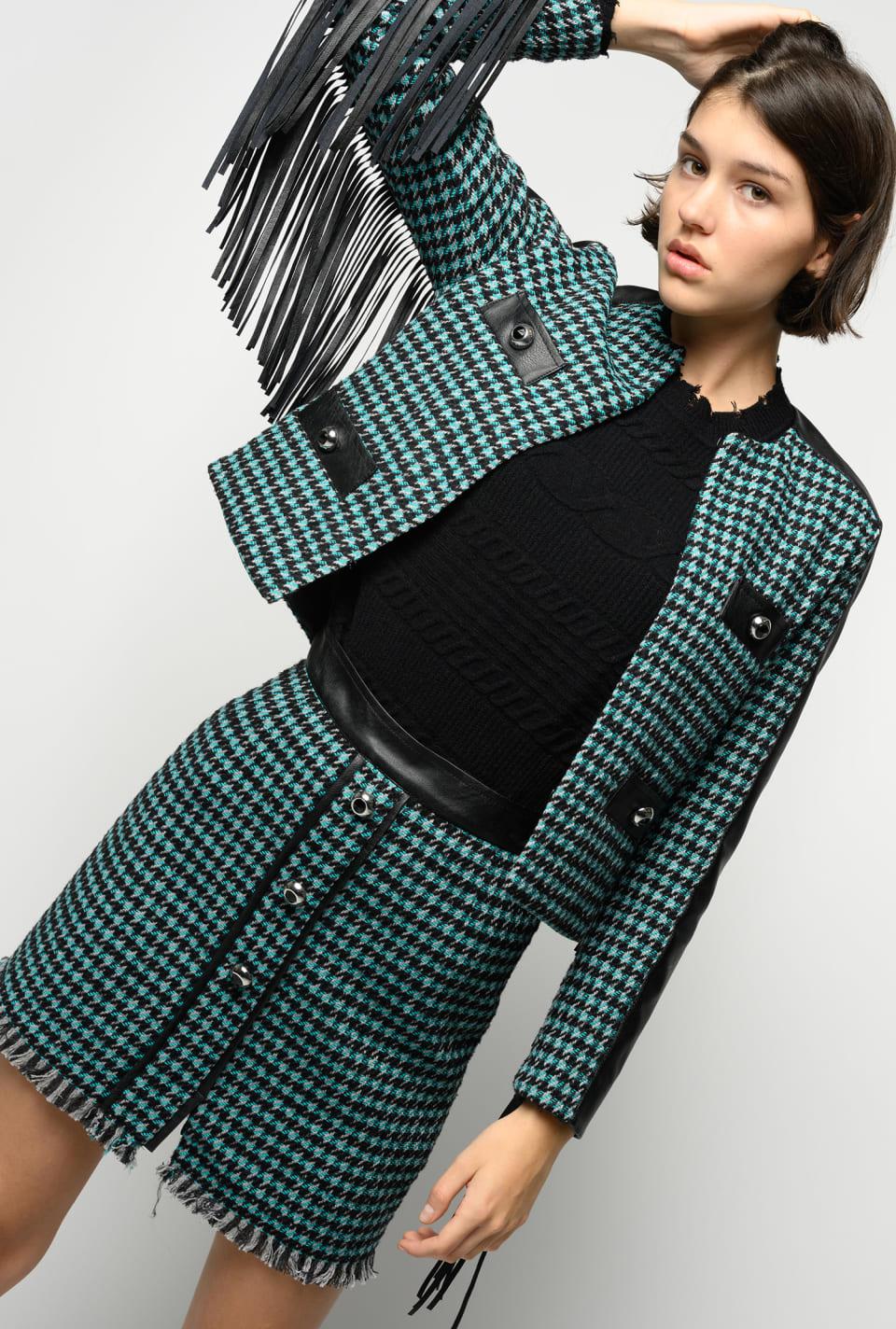 Tweed miniskirt - Pinko