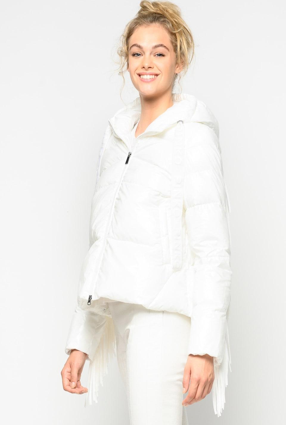 流苏装饰羽绒服 - Pinko