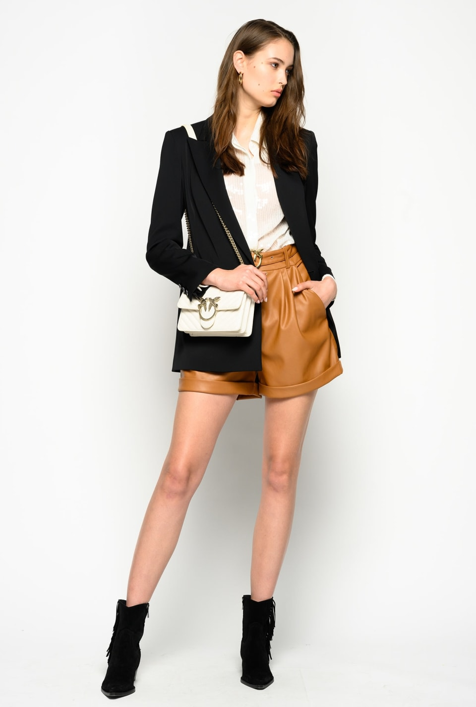 Leather-look shorts - Pinko