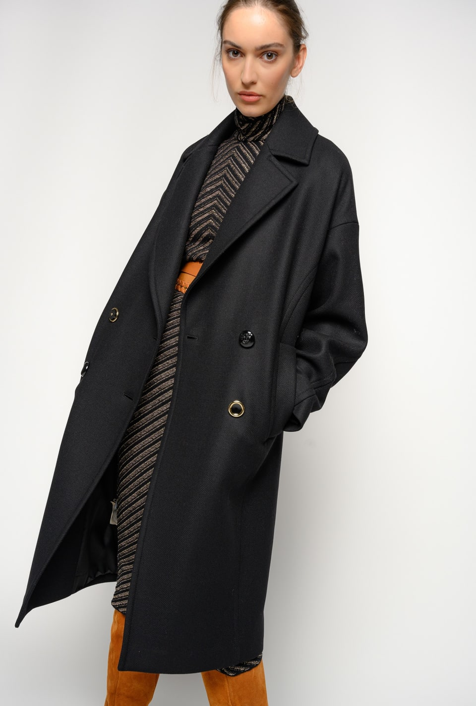 Double-breasted wool coat - Pinko