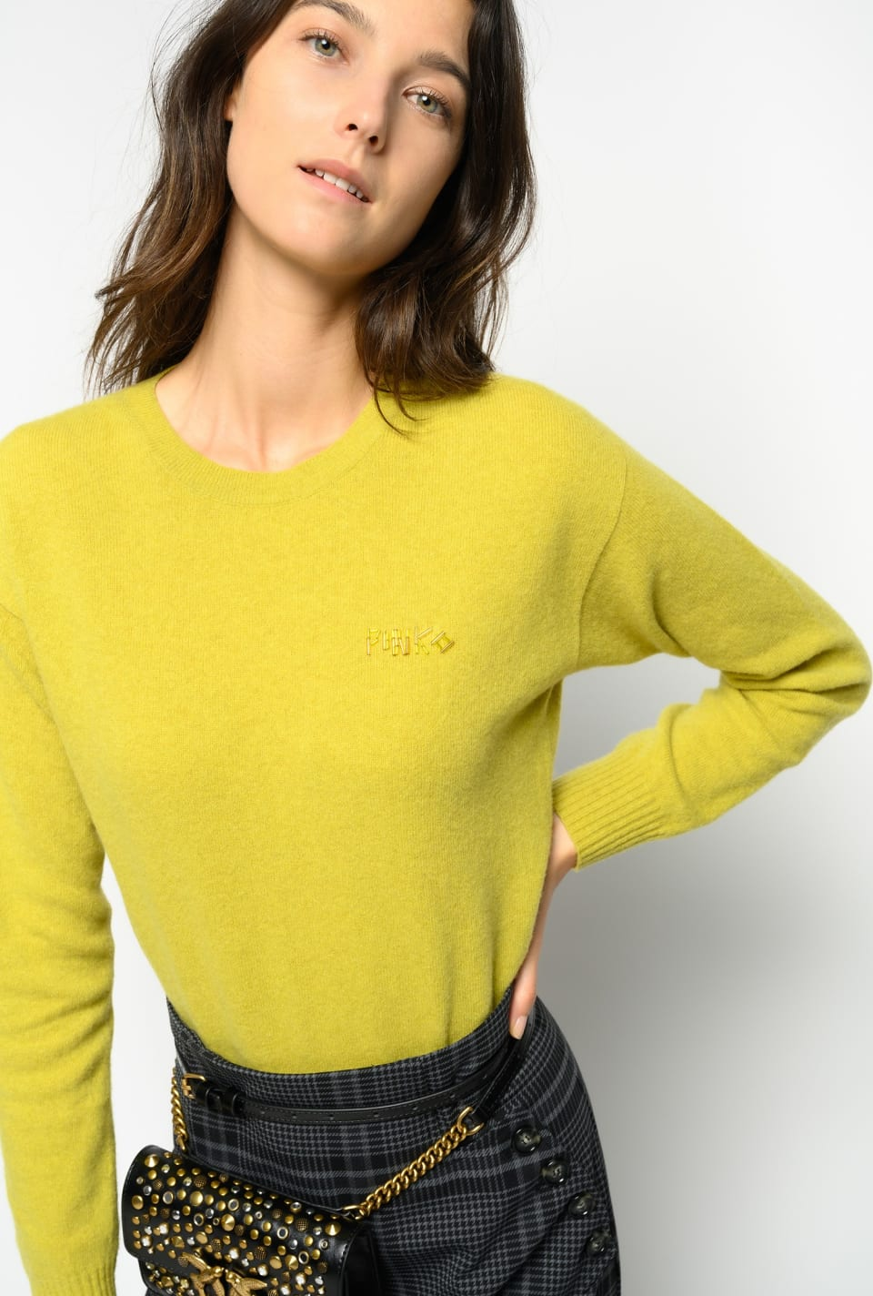 Wool pullover with embroidery - Pinko
