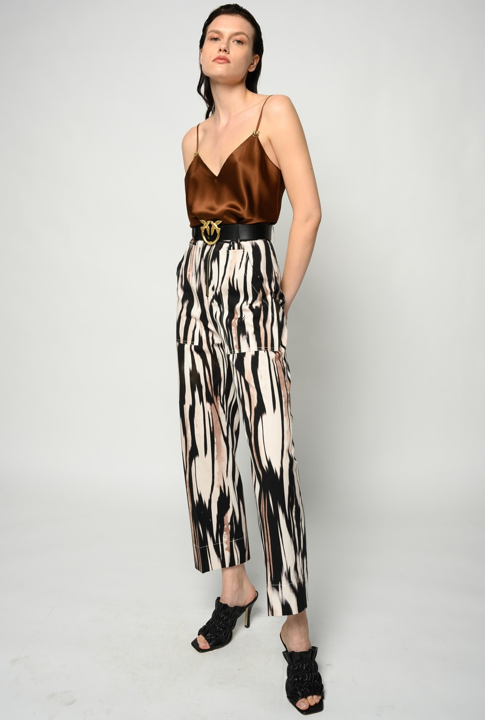 Graphic-print trousers - Pinko