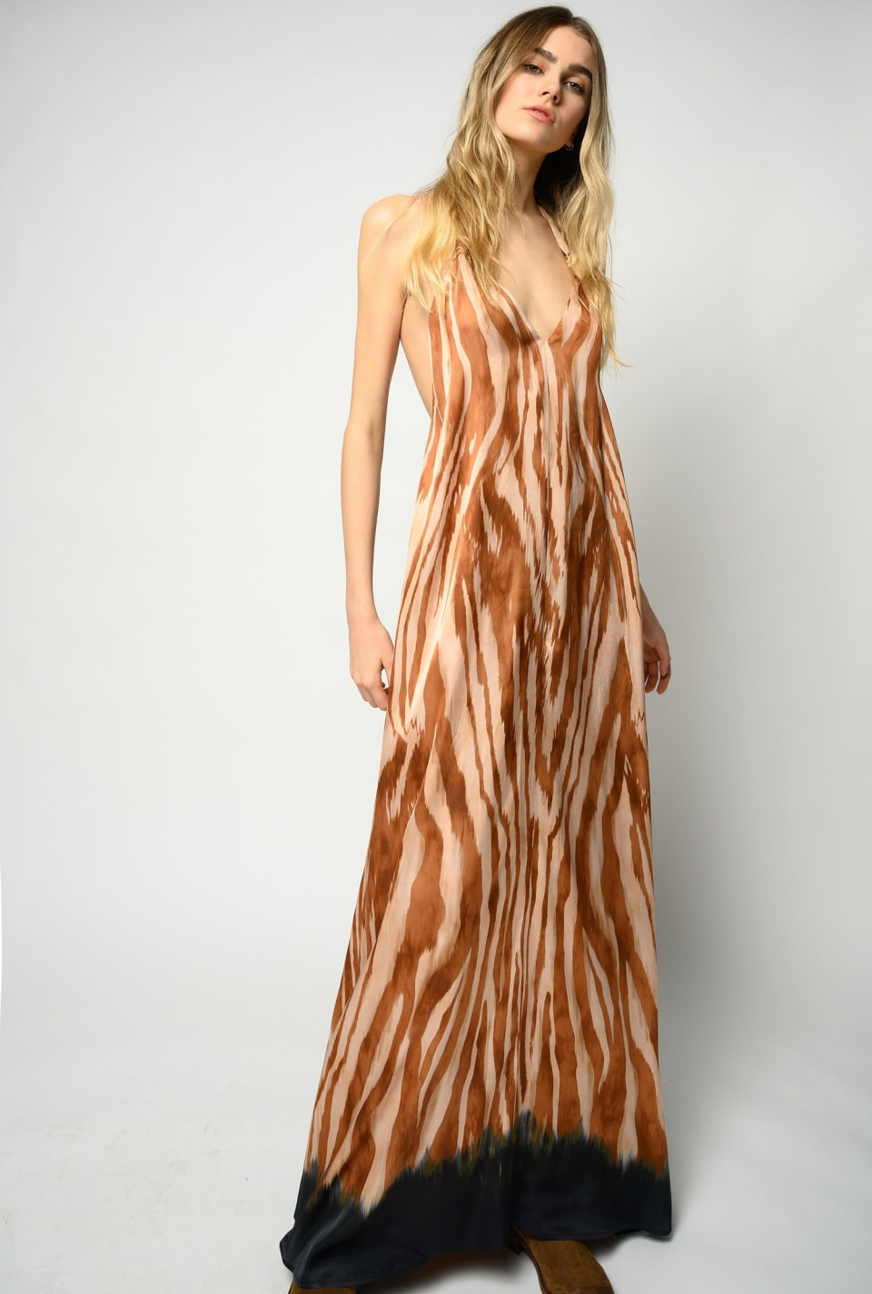 Zebra-print maxi dress - Pinko
