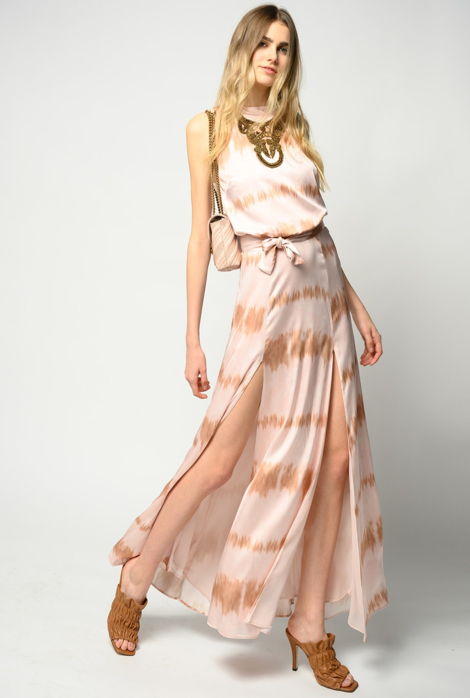 Embroidered tie-dye maxi dress - Pinko
