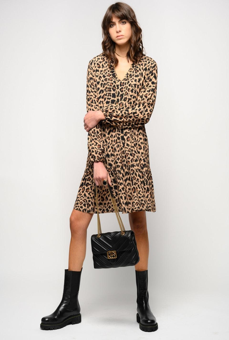 Mini-robe à imprimé léopard - Pinko