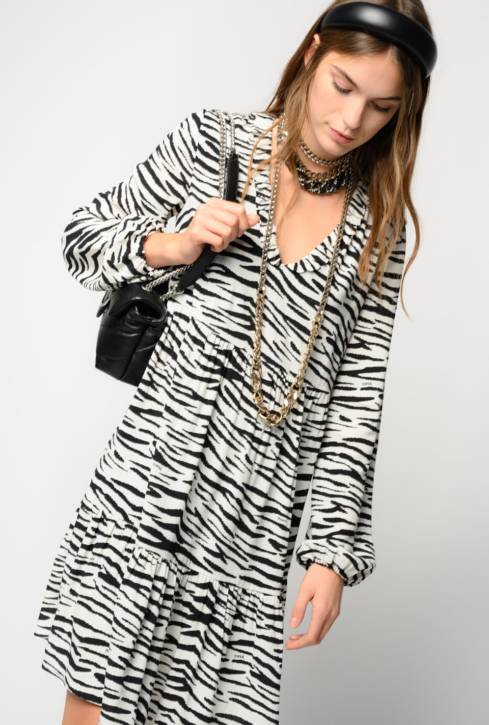 Zebra print mini dress - Pinko