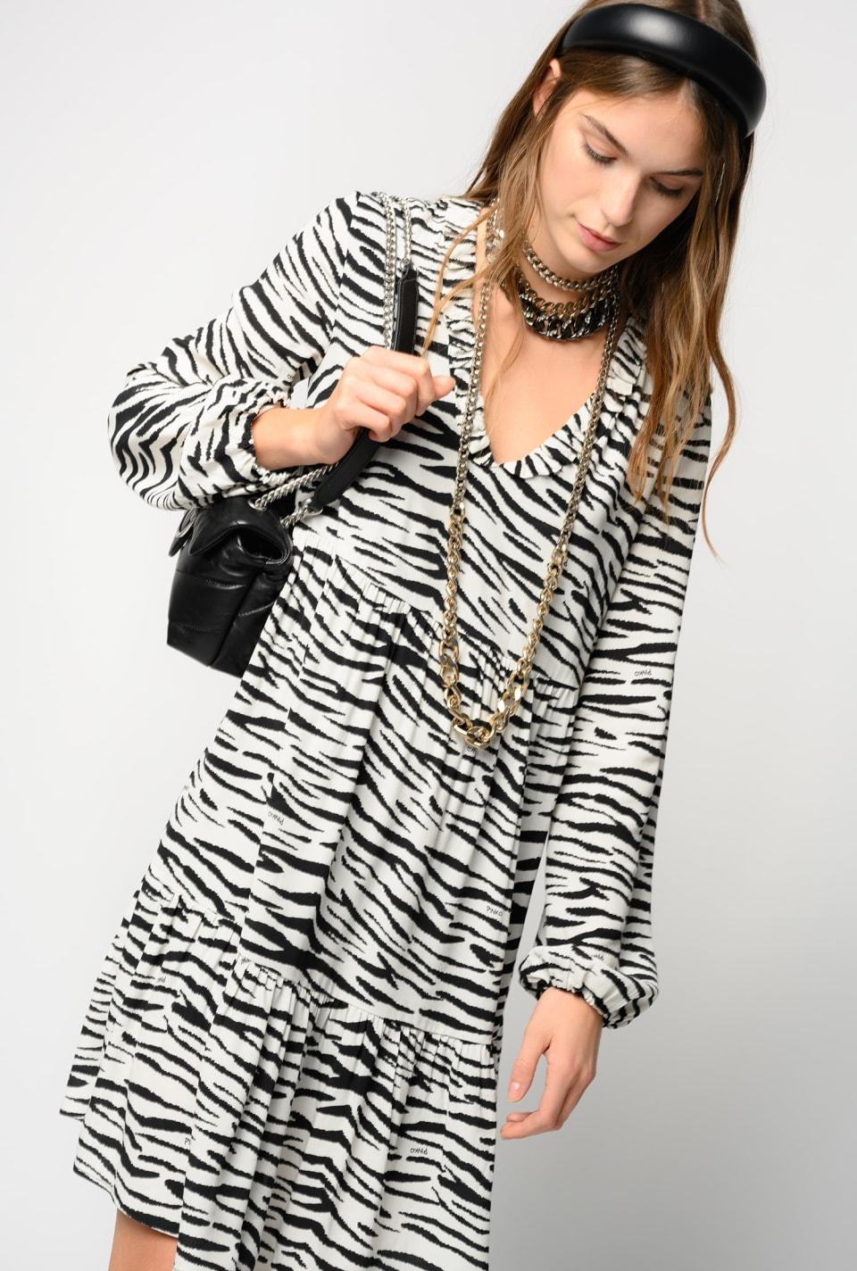 Mini-robe à imprimé zèbre - Pinko