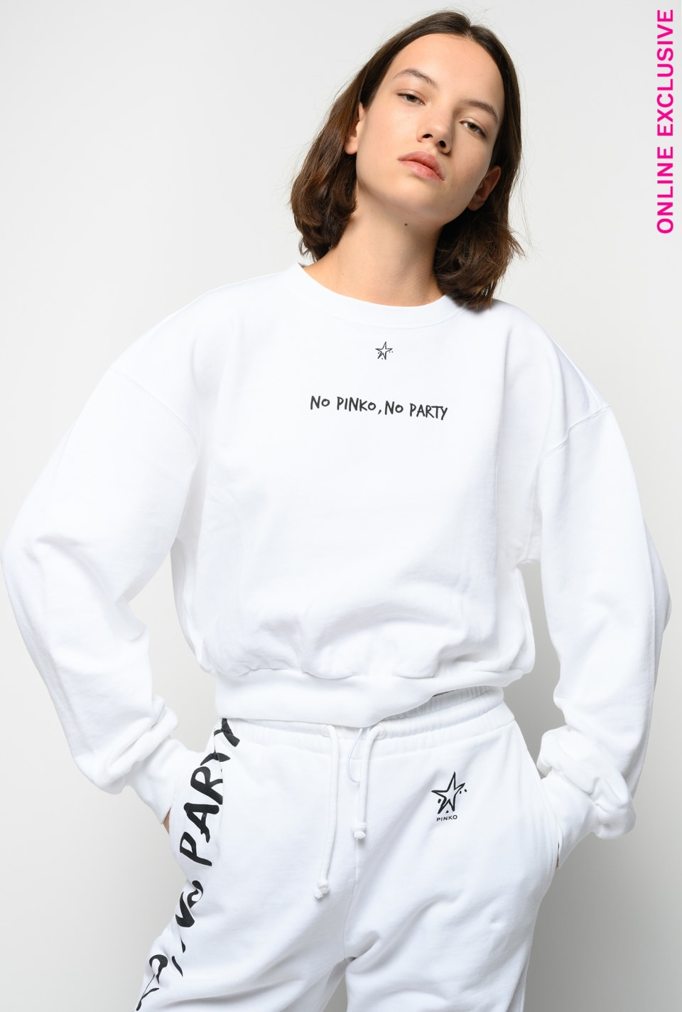 Sudadera cropped No PINKO No Party - Pinko