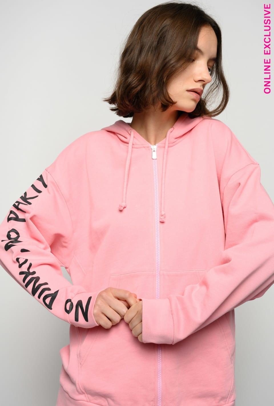 Zipped No PINKO No Party sweatshirt - Pinko