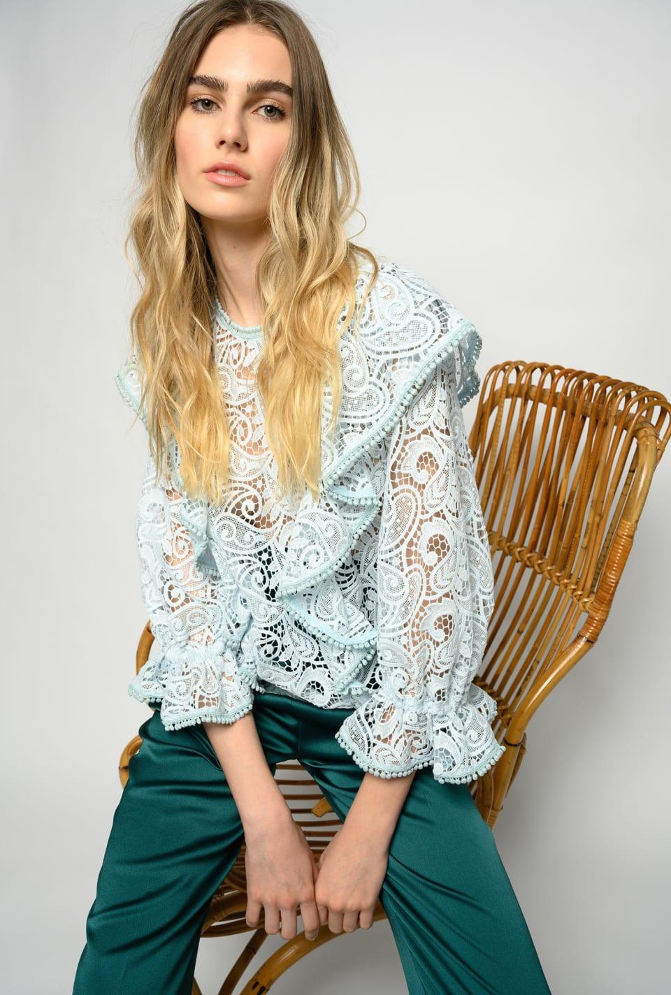 Paisley-patterned macramé blouse - Pinko