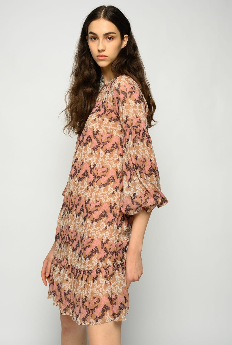 Short hibiscus-print dress - Pinko
