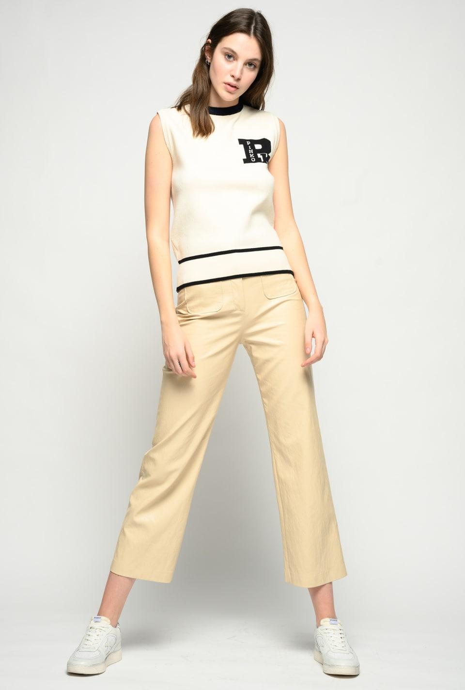 Tricot college waistcoat - Pinko