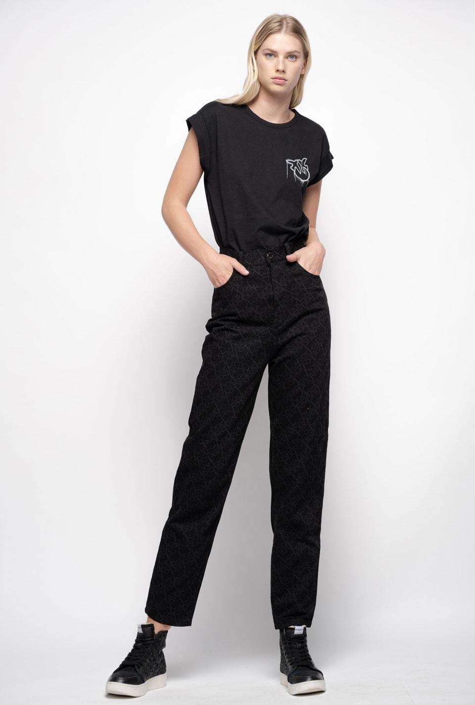 Monogram jeans - Pinko