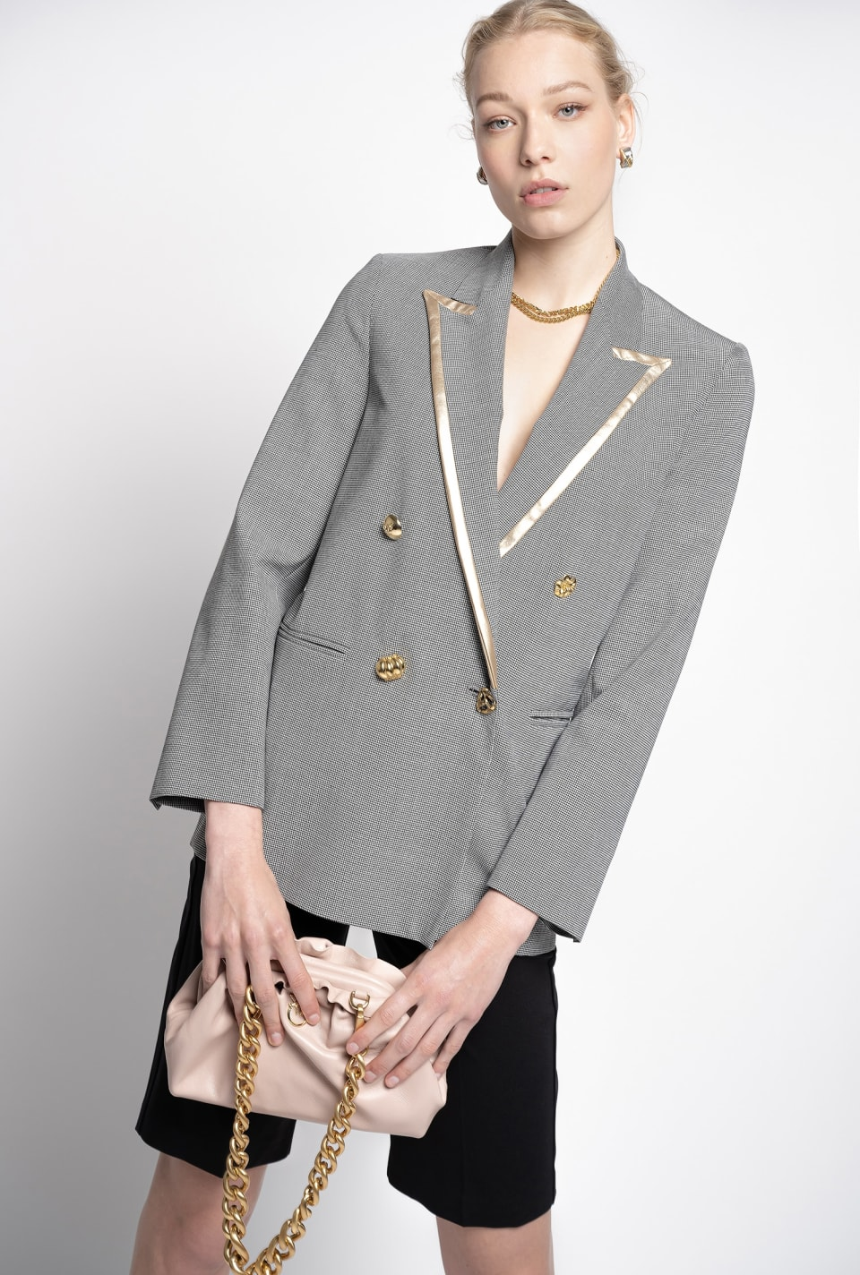 Blazer with golden trim - Pinko