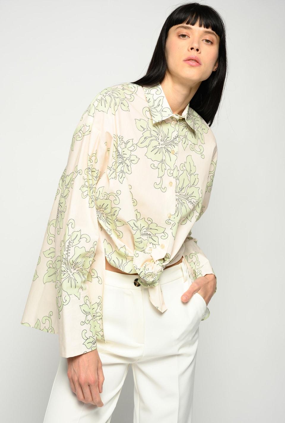 夏威夷印花衬衫 - Pinko