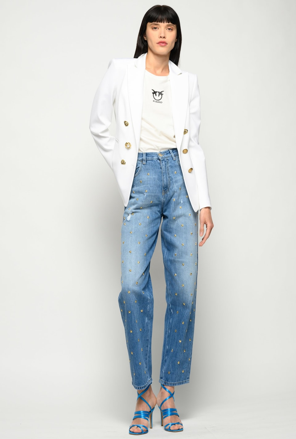 Mom-fit jeans with stars - Pinko