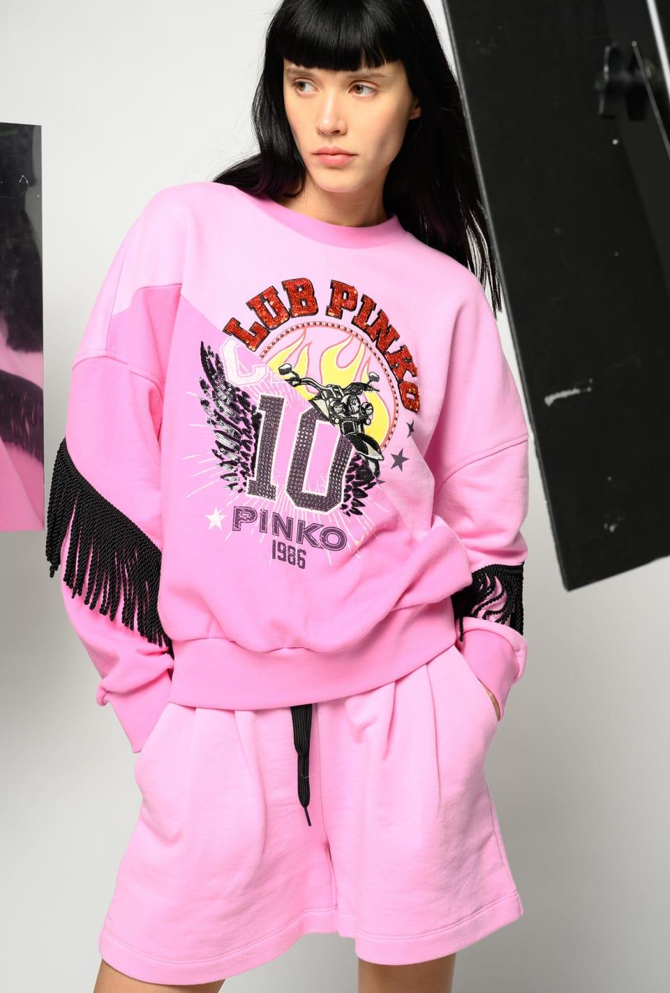Club PINKO fringed sweatshirt - Pinko