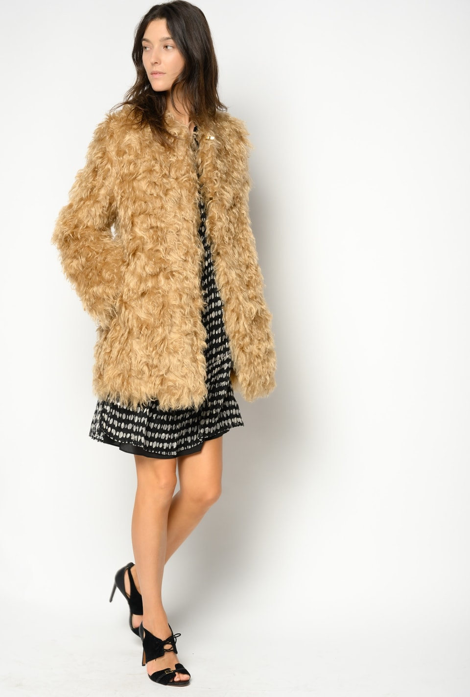 Faux-fur mohair coat - Pinko
