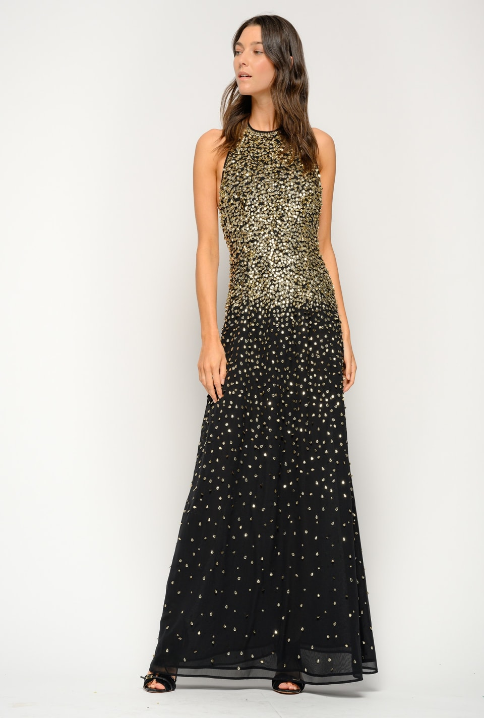 Long dress covered with shaded sequins - Pinko