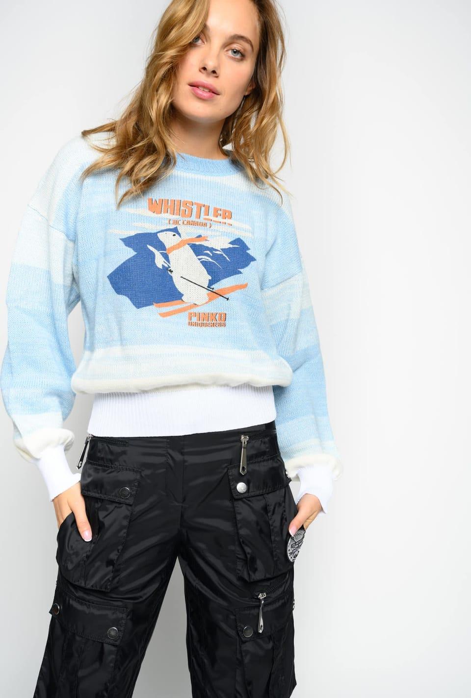 Suéter con estampado de montaña