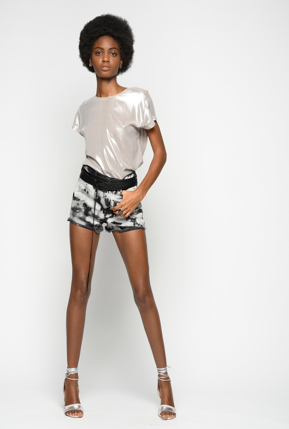 Marble-look shorts