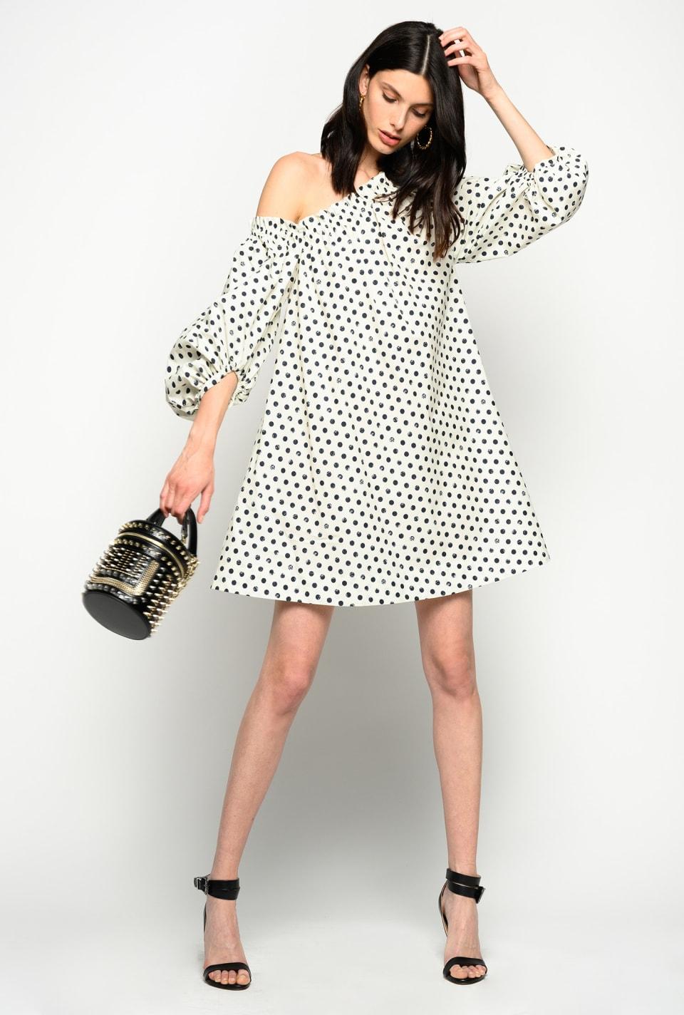 Short dress with polka dots