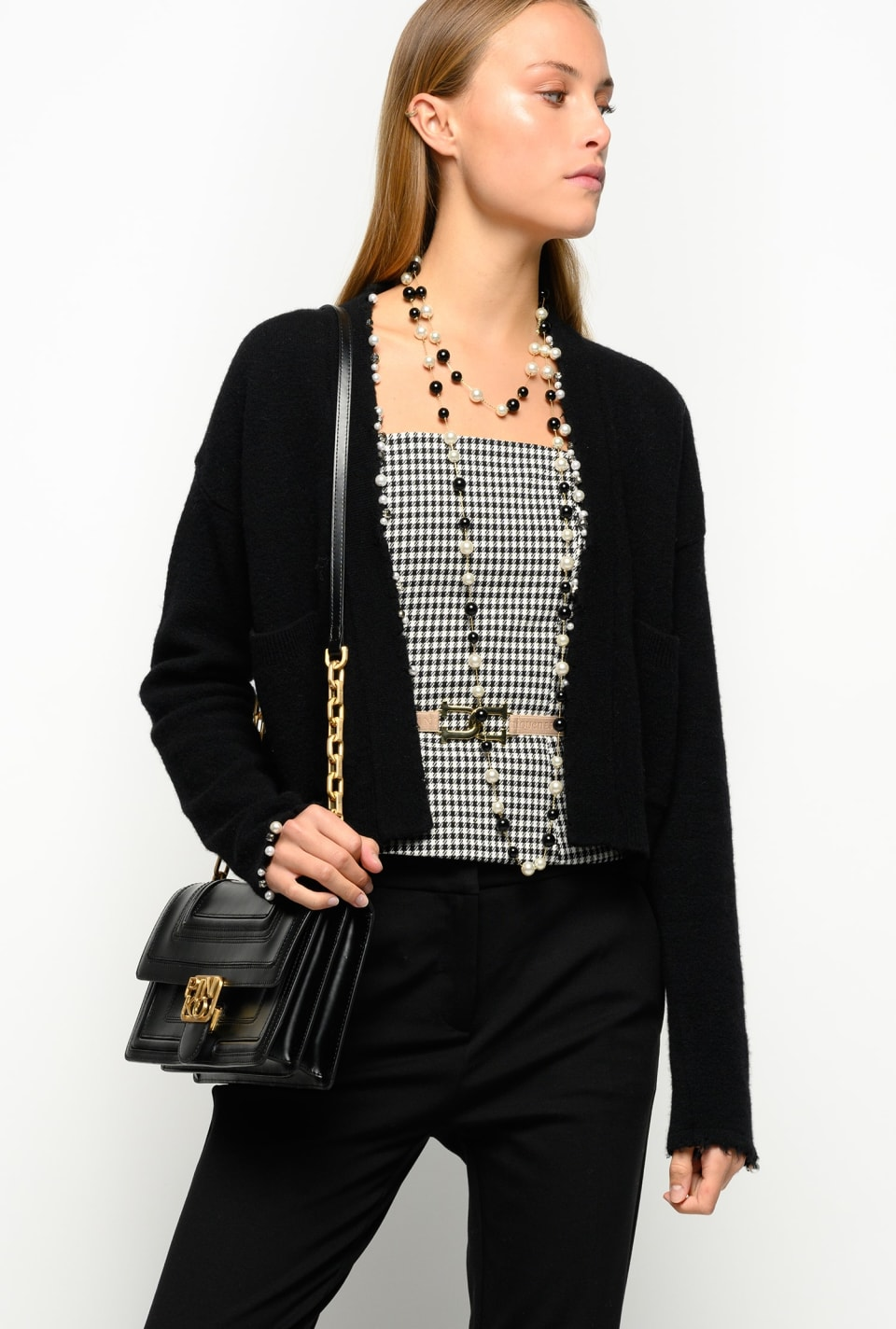 Short cardigan with pearls - Pinko