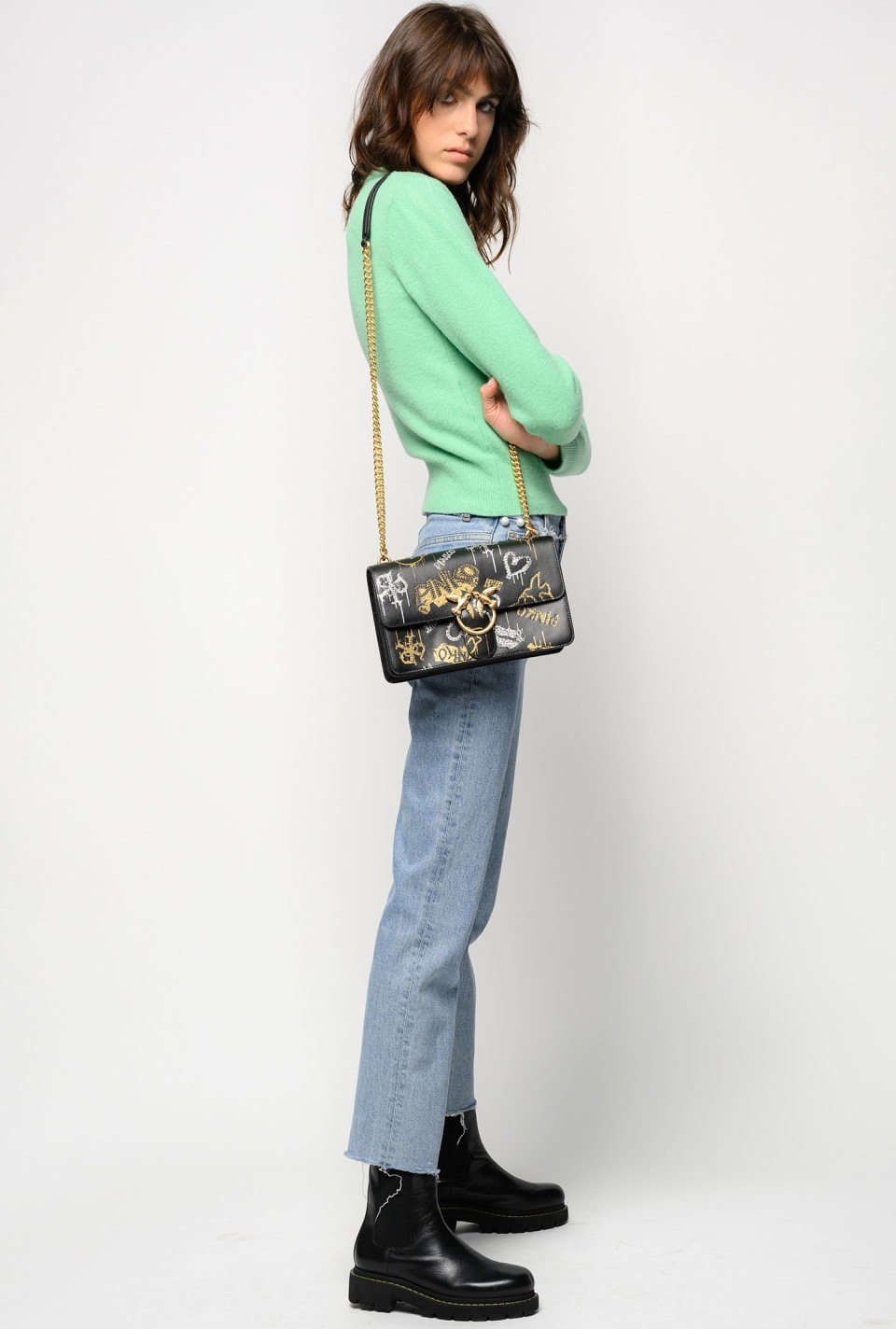 Straight jeans with pearls - Pinko