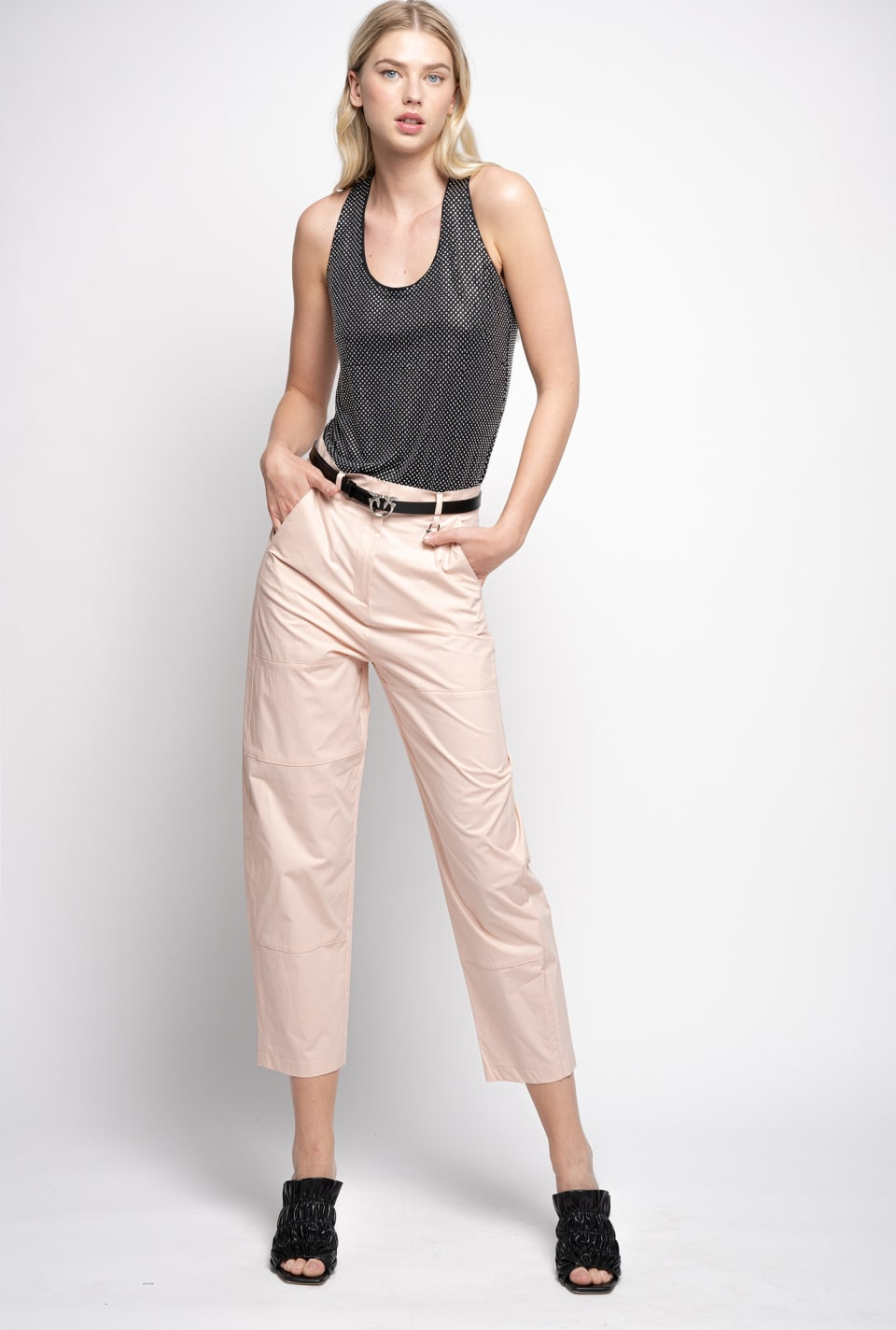 Trousers in poplin - Pinko