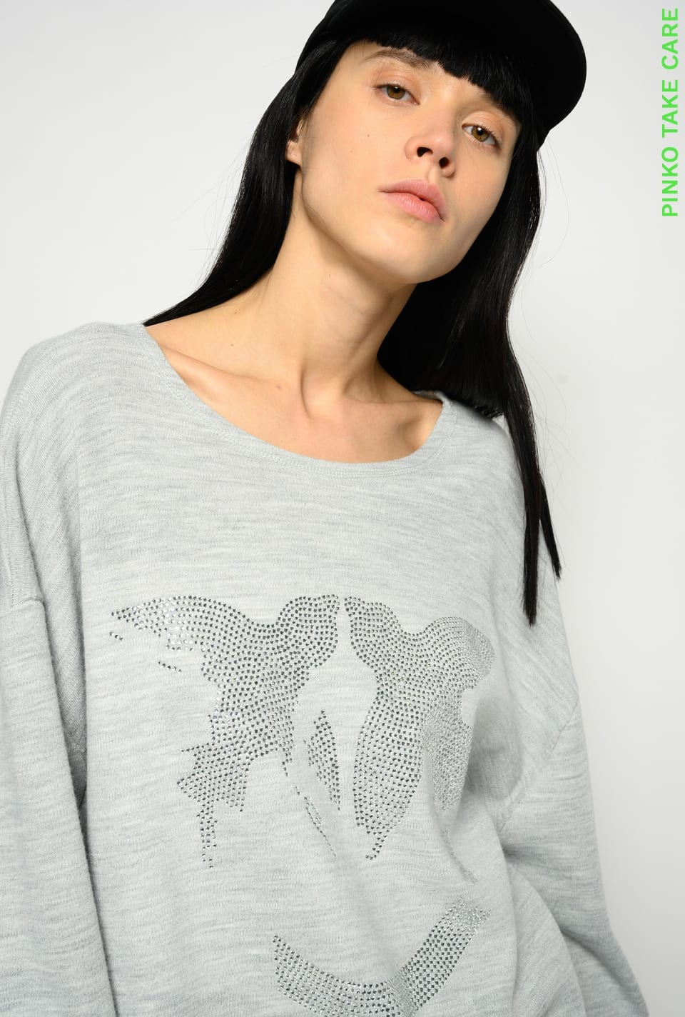 Sweat-shirt Love Birds REIMAGINE - Pinko