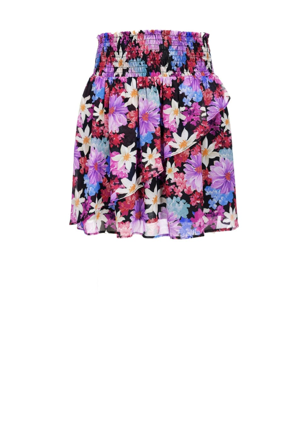 Falda corta de flores