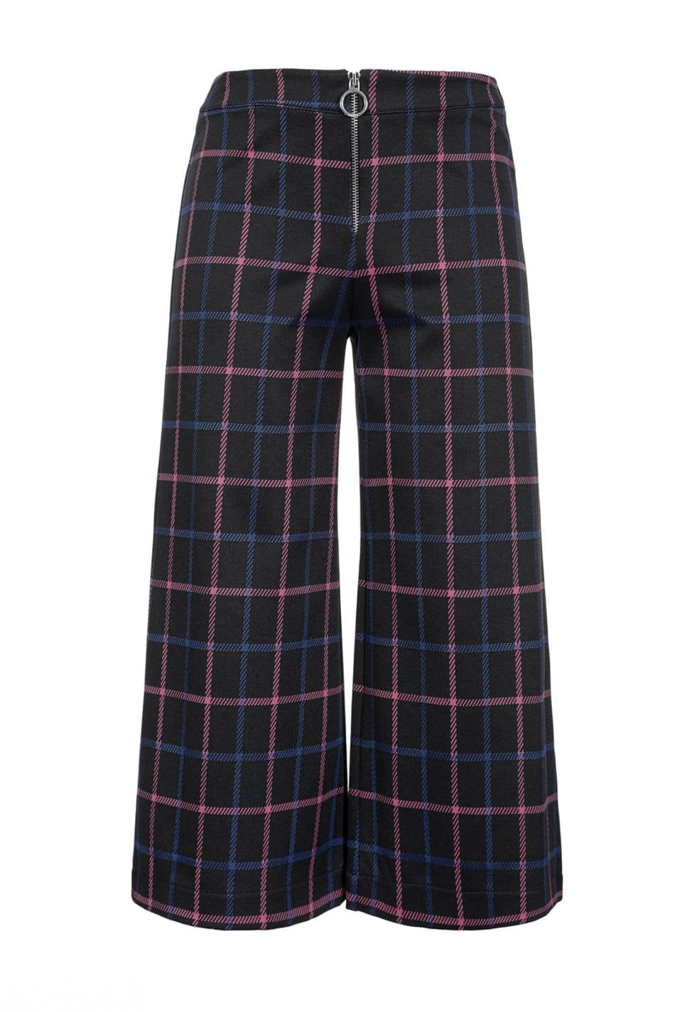 Pantalón amplio con fantasía check