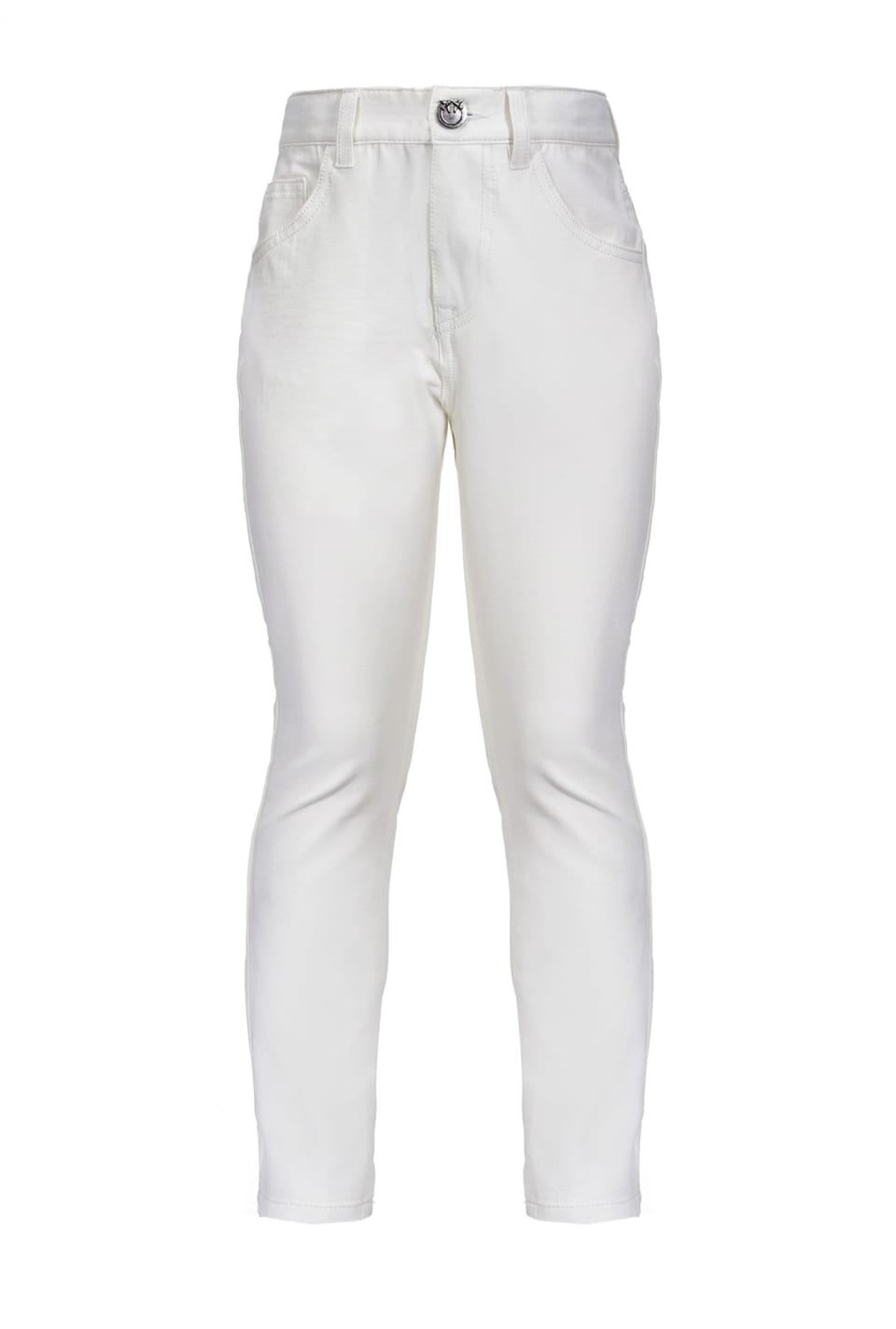 High-waist slim trousers