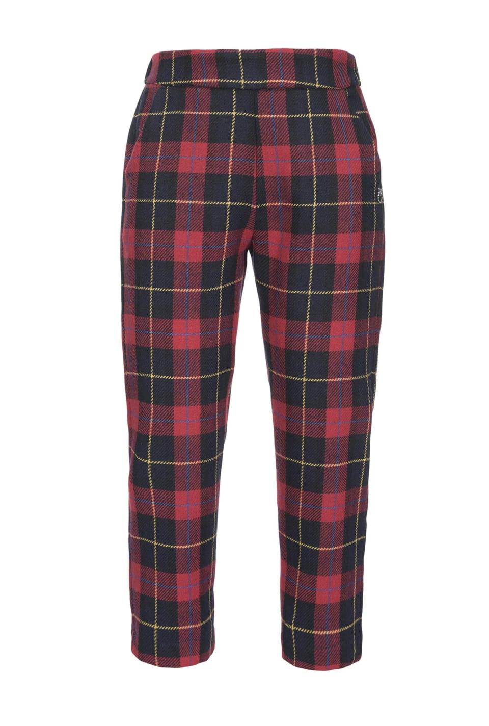 Tartan pattern trousers