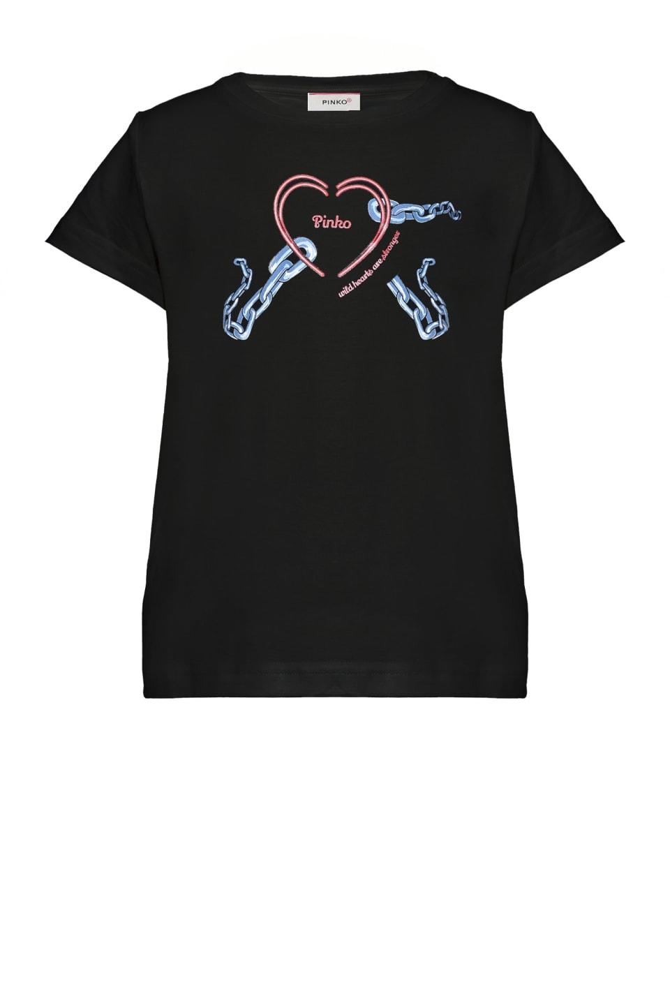 T-shirt Heart Chain