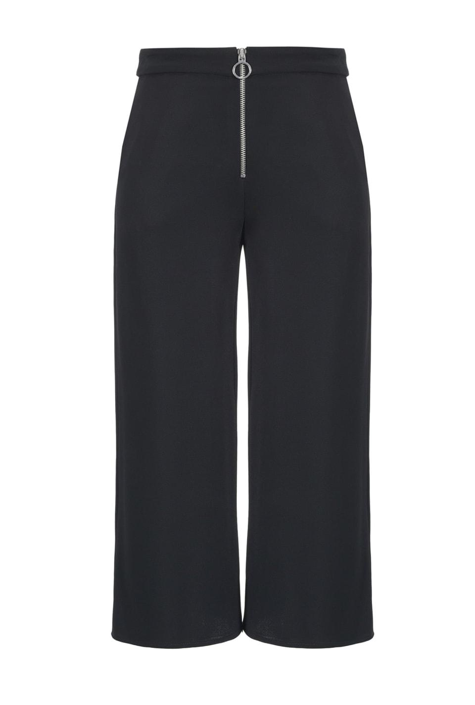 Pantalón amplio de crepé doble