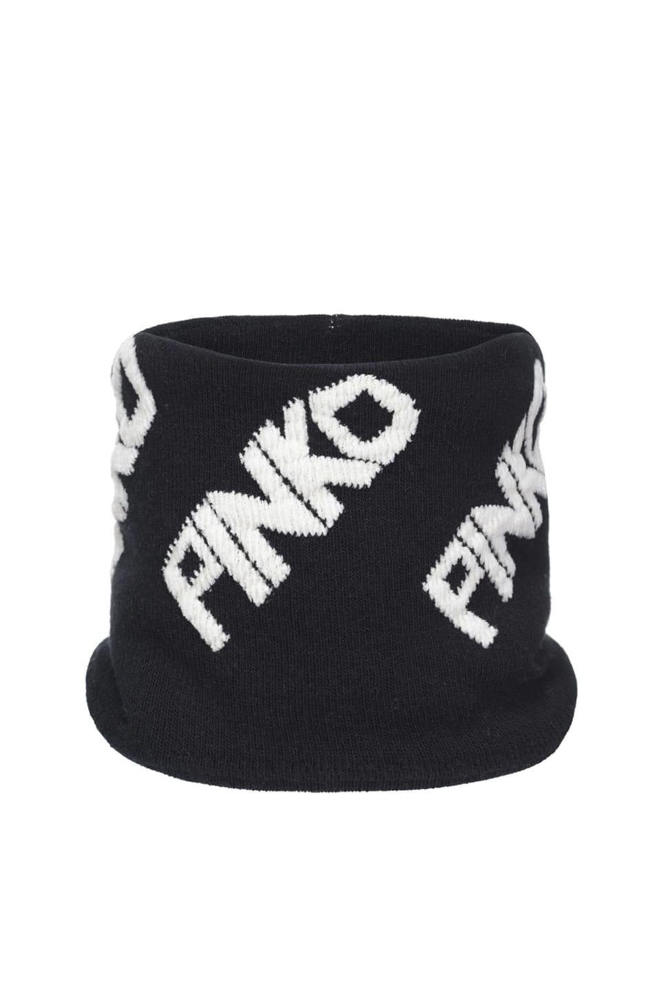 Scarf with ring and logo