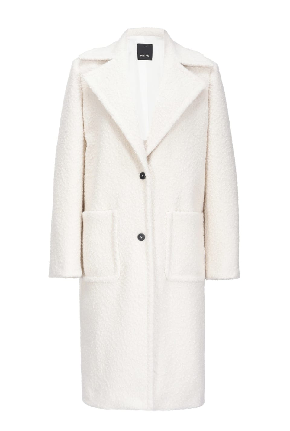 Long shearling-look coat