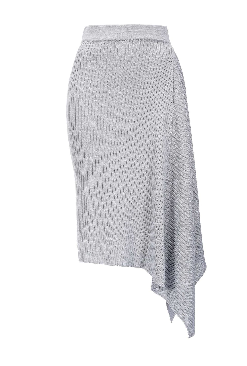 Midi-length knitted skirt