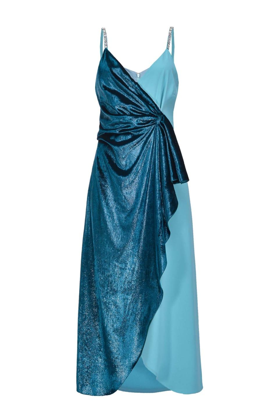 Vestido de terciopelo y satén